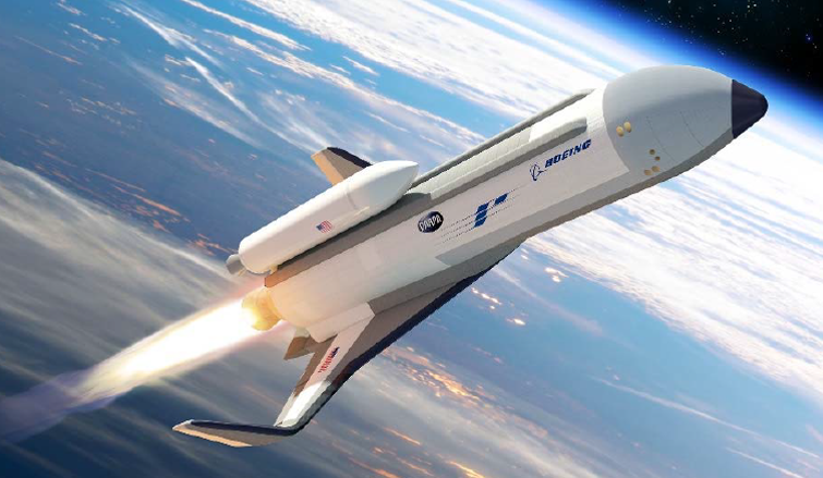 Artist's concept of DARPA space plane.