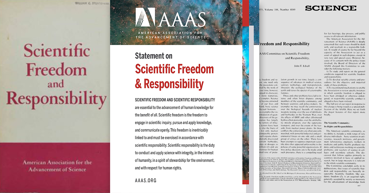 Resources that complement the AAAS Statement on Scientific Freedom and Responsibility