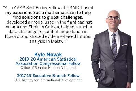 STPF fellow Kyle Novak with quote about fellowship impact