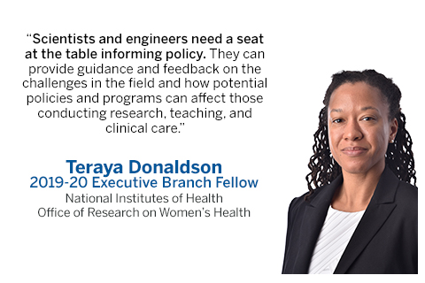 STPF fellow Teraya Donaldson quote about the impact of her fellowship experience.