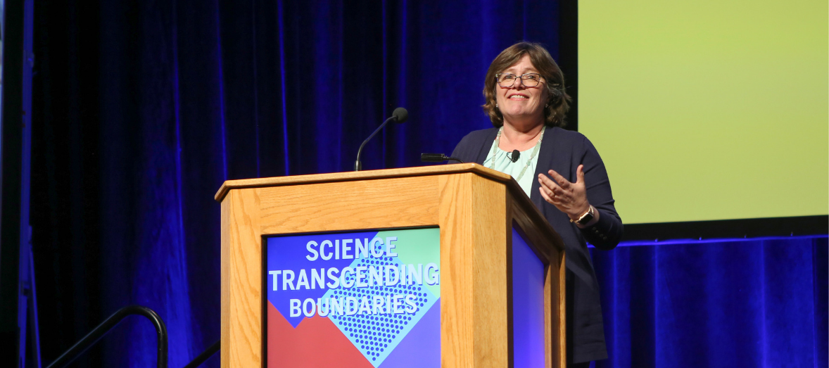 Lucy Jones speaks at the 2019 AAAS Annual Meeting