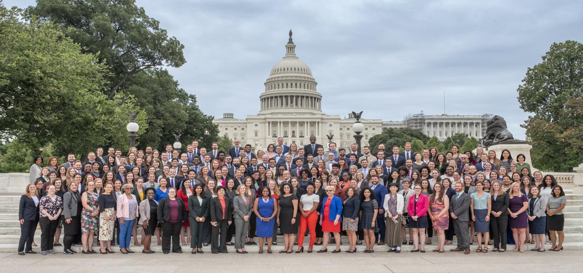 2019-2020 S&T Policy Fellows class photo