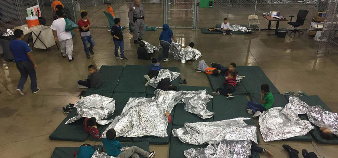 migrant children detained at US border