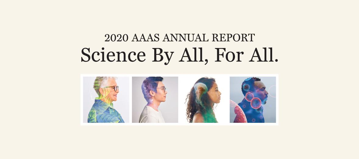 Banner introducing AAAS' 2021 Annual Report