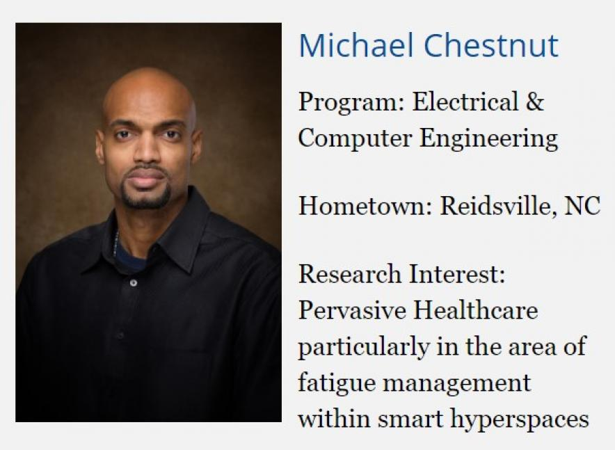 Image with brief facts about author, Michael Chestnut