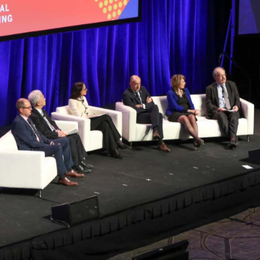Six people on stage at the 2019 AAAS Annual Meeting