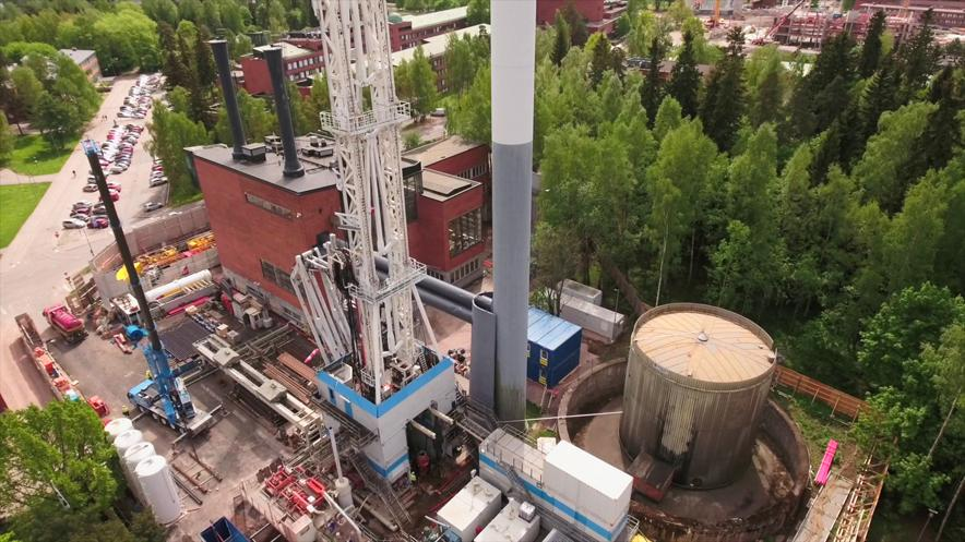 Finnish geothermal well