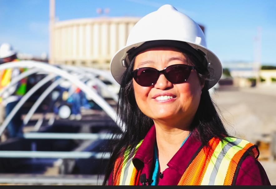 Pei Xu is leading a pilot-scale research project at the Jacob A. Hands Wastewater Treatment Facility in Las Cruces to develop a treatment process for reuse of wastewater