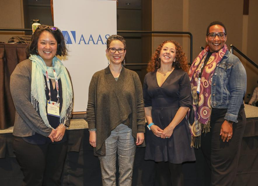 Panelists at the 2020 AAAS Communicating Science Seminar.