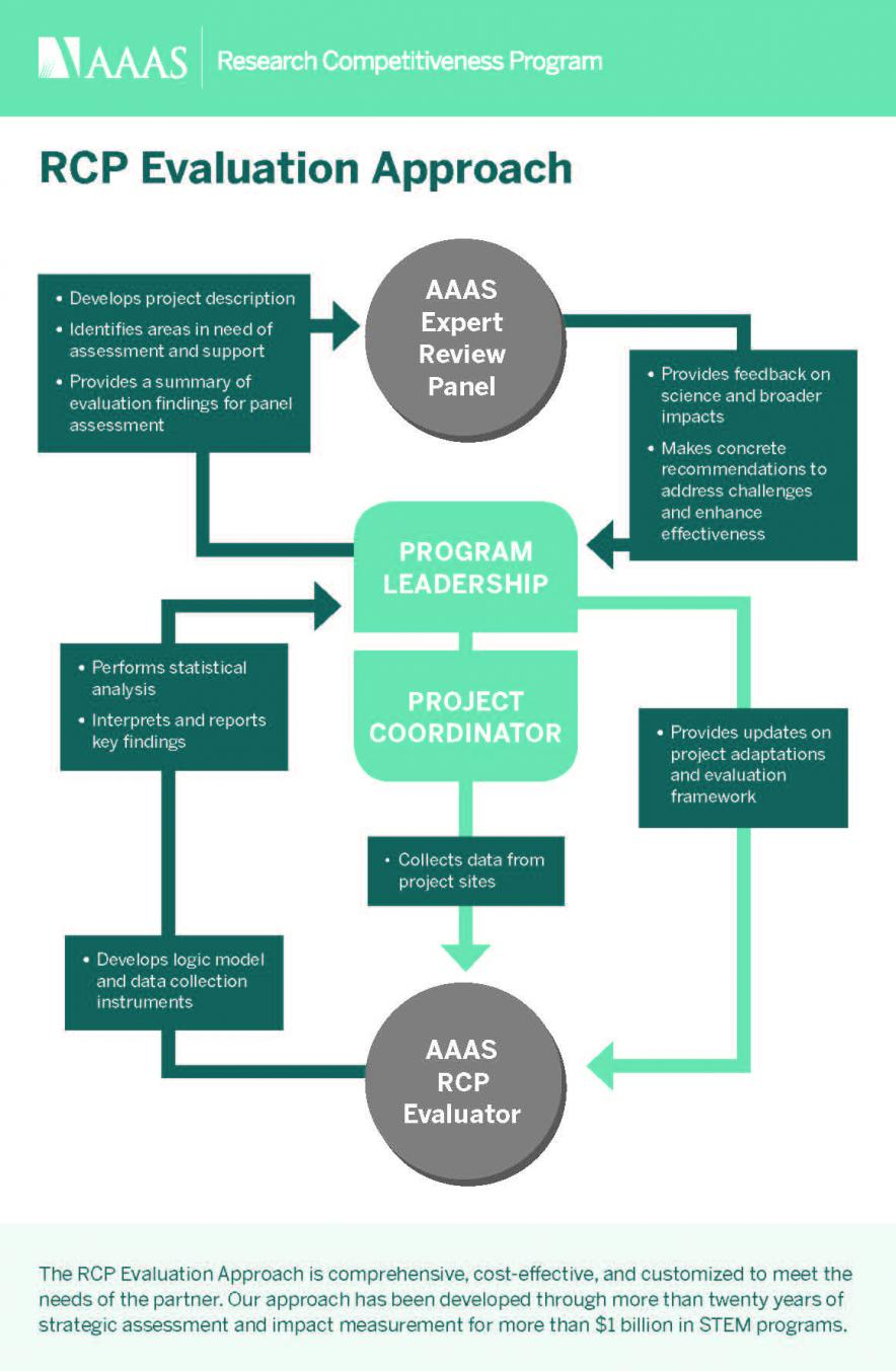 Graphic showing program assessment workflow