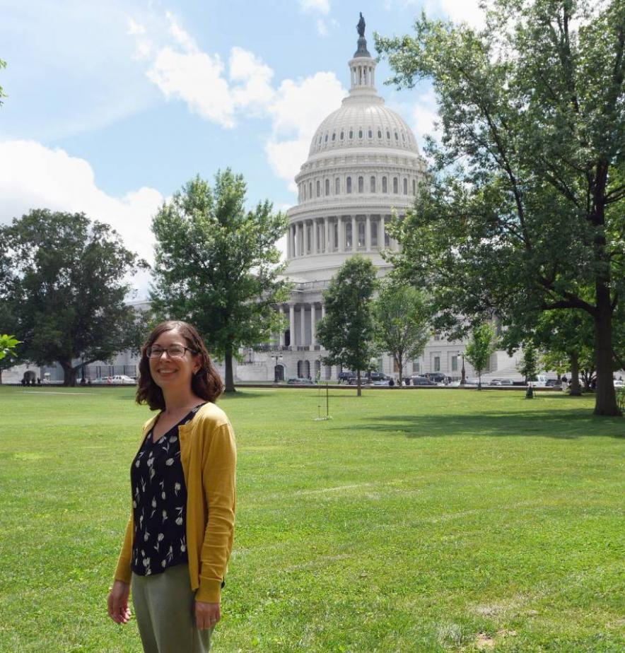 Leshner Fellow Leia Stirling at the U.S. Capitol during her June 2019 AAAS orientation.