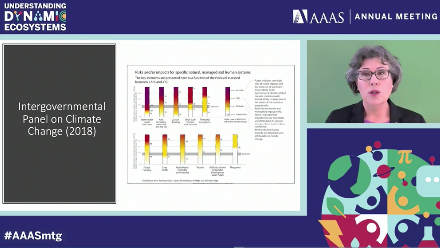 Claire Fraser at the virtual 2021 AAAS Annual Meeting