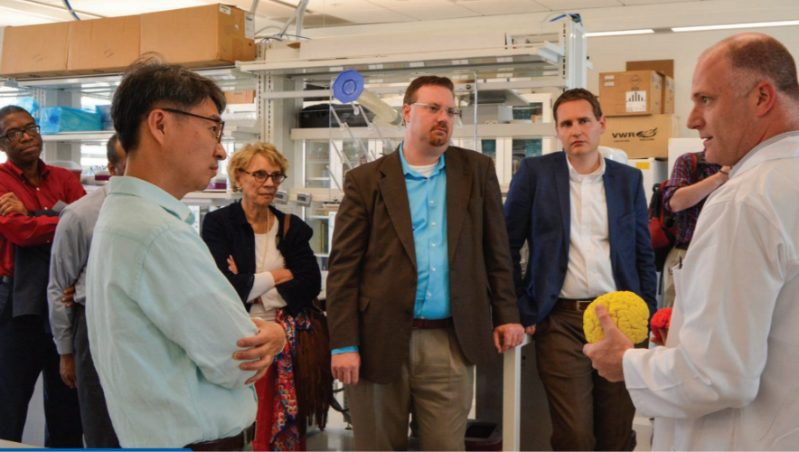 Science for Seminaries faculty visit George Washington University's Mind-Brain Institute in 2018.