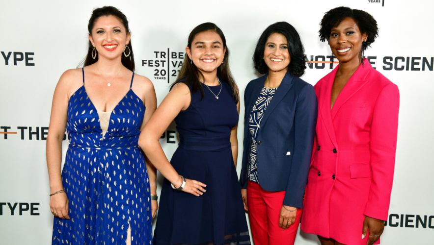 """Jessica Taaffe, Gitanjali Rao, Jayshree Seth and Ciara Sivels are featured in the new documentary """"Not the Science Type."""" Taaffe and Sivels are AAAS IF/THEN Ambassadors. 