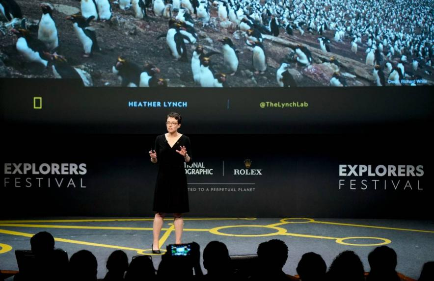 Heather Lynch at the 2019 National Geographic Explorer's Festival
