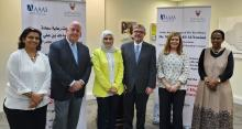 Unknown, Mark Crowell (RCP Panel Expert), Farzana A. Al-Maraghi (Director, Scientific Research, Higher Education Council, Ministry of Education, Bahrain),  Charles Dunlap, Heather McInnis, and Unknown
