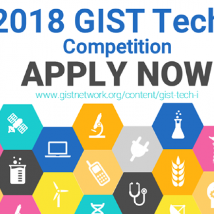 Logo with text: 2018 GIST Tech-I Competition Apply Now