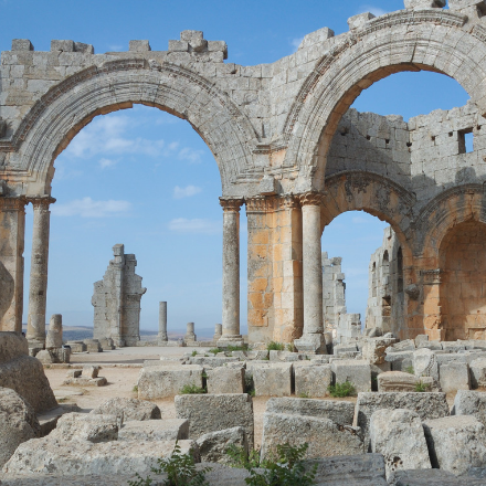 Ancient arches in Syria