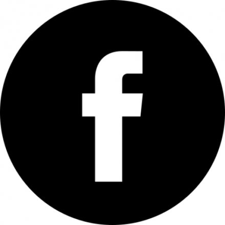 Black circular Facebook icon