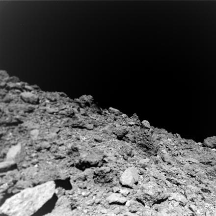 surface of Ryugu asteroid