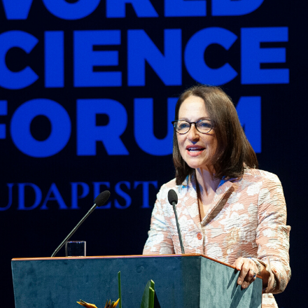 Margaret Hamburg at the 2019 World Science Forum