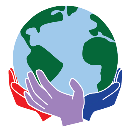 Hands supporting the earth