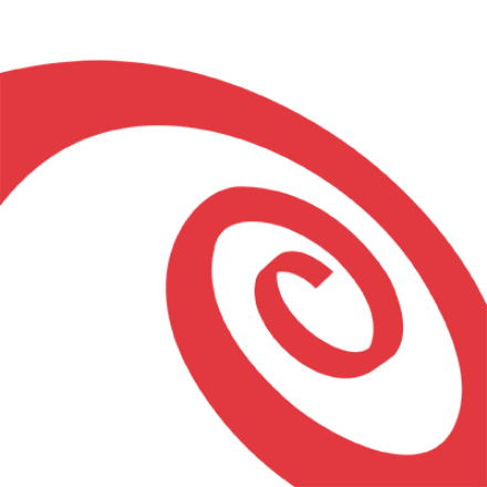 Red swirl on a white background