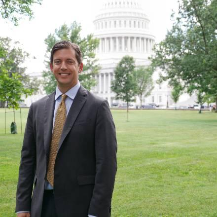 Aaron Levine at the U.S. Capitol during June 2019 AAAS Leshner Fellow orientation.