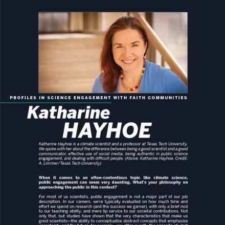 Image of first page of Katharine Hayhoe's PDF profile