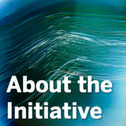 "Abstract image with ""About the Initiative"" overlaid."