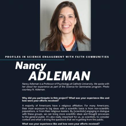 Image of first page of Nancy Adleman's PDF profile