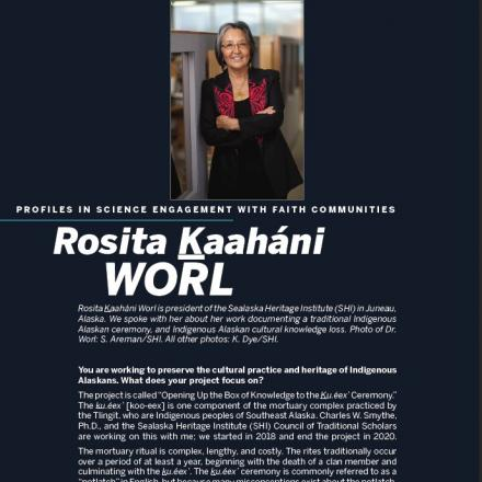 Image of first page of Rosita Worl's PDF profile