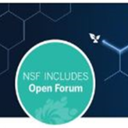 Logo with text: NSF INCLUDES Open Forum