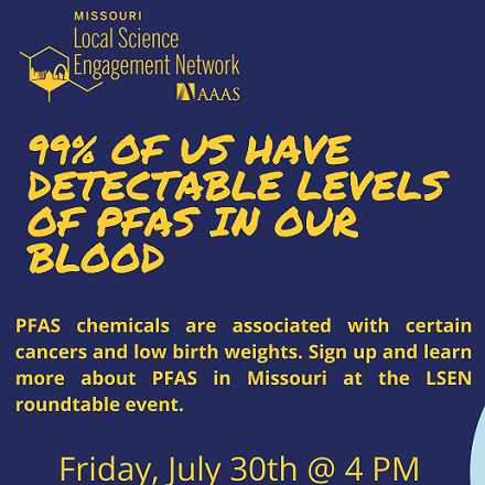 PFAS in Missouri: The Chemistry Behind Perfluoroalkyl Substances in Our Water Supply event