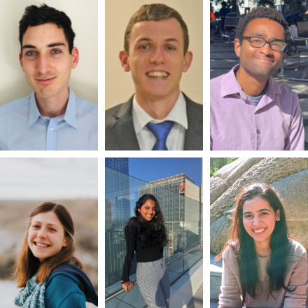 A collage of headshots of winners of the Science Essay Contest winners